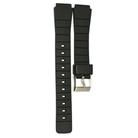 16MM BLACK RUBBER RESIN SPORT WATCH BAND STRAP FITS CASIO F-91W (Casio Sports Watch Straps)