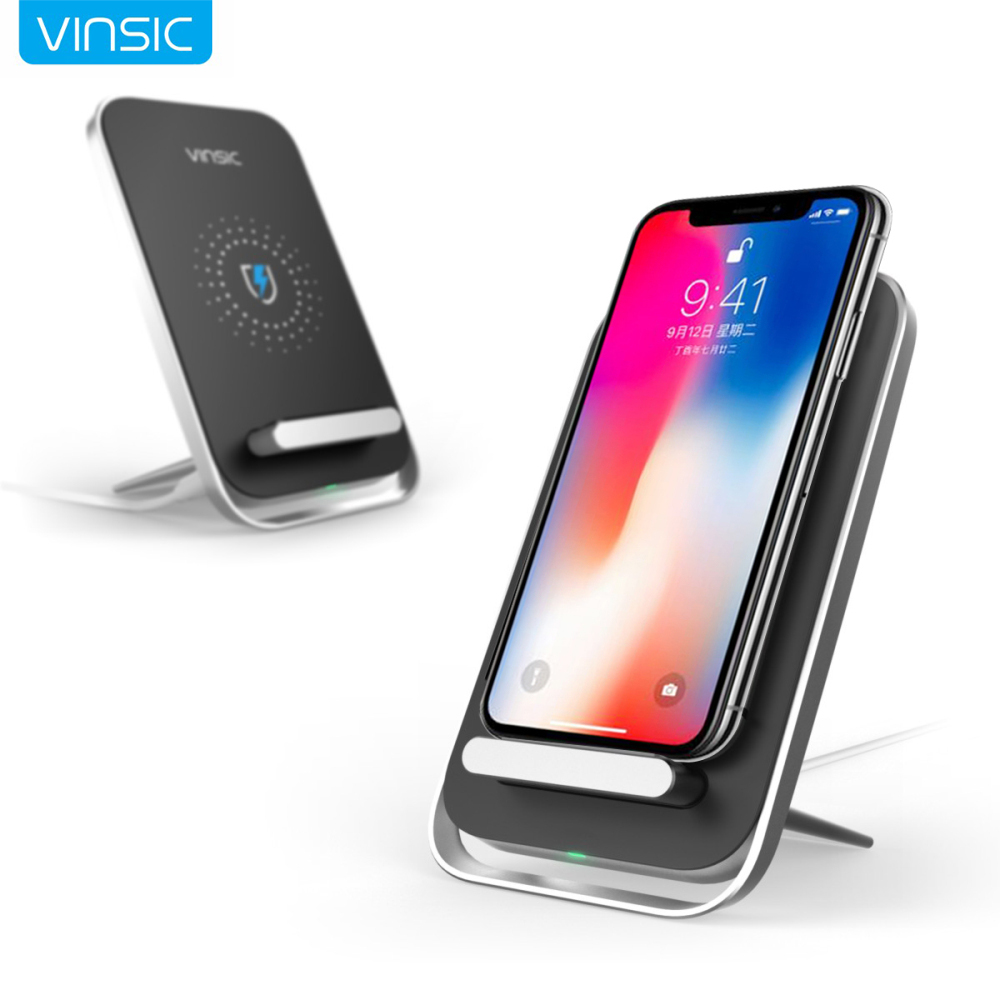 Vinsic Intellective 3 Coils Qi Wireless Charger Charging Pad for iPhone 8 iPhone X Samsung S6 S7 Note 5 Qi-enabled Smartphones
