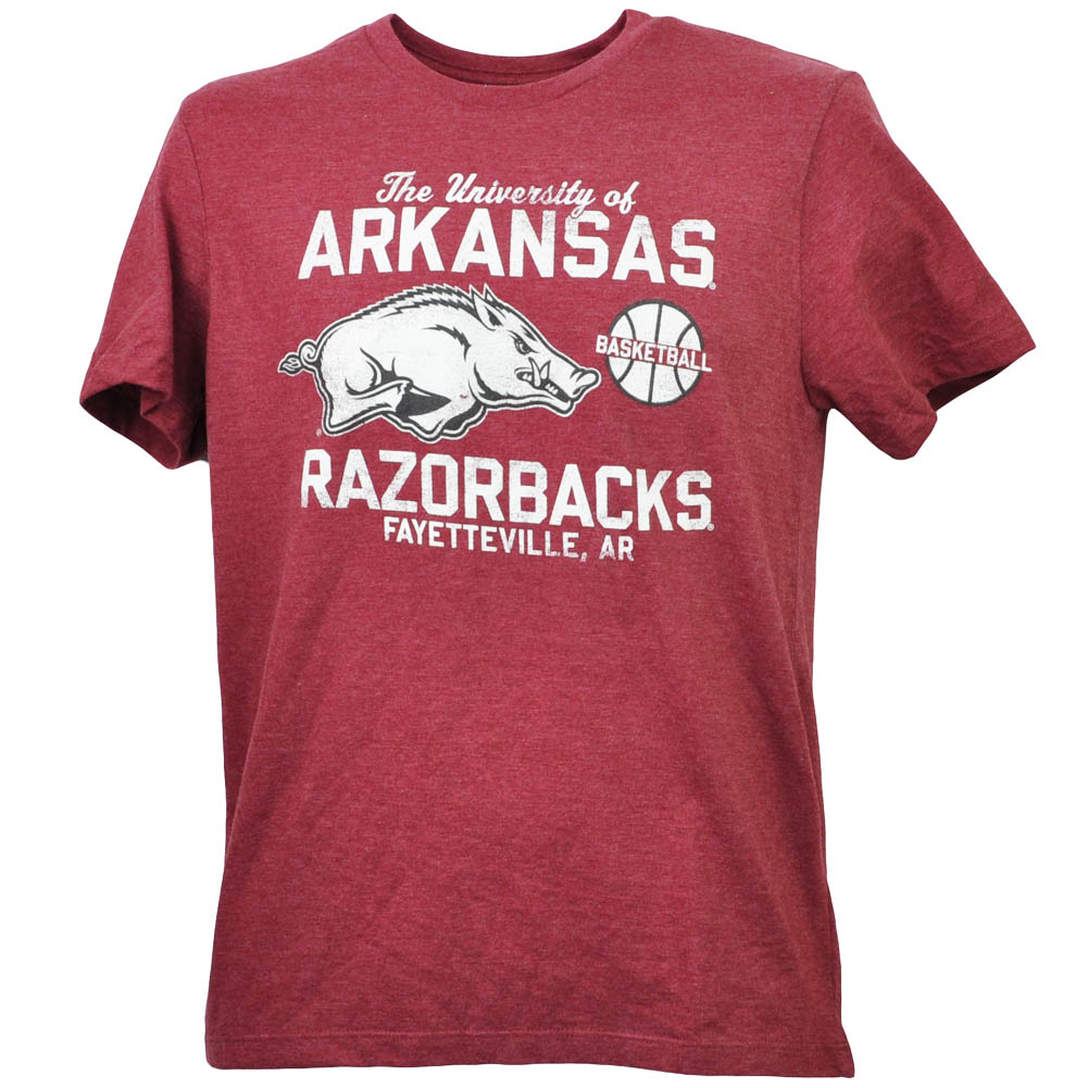 NCAA Arkansas Razorbacks Fayetteville AR Basketball Burgundy Tshirt Tee Mens XL