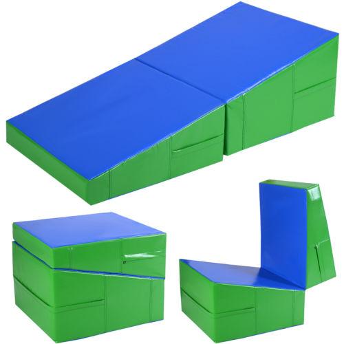 "Costway Incline Gymnastics Mat Wedge Folding Gymnastics Gym Fitness Tumbling 48""x24""x14"""