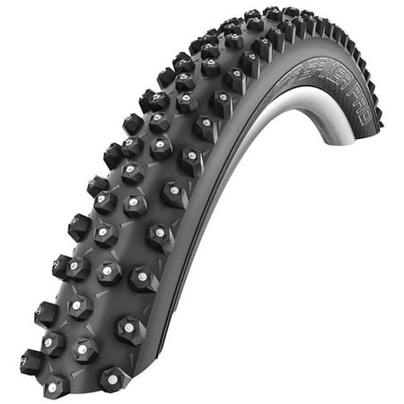 Schwalbe, Ice Spiker Pro, 26x2.35, Folding, Winter, Tubeless Ready, SnakeSkin, 67TPI, 35-55PSI, Black