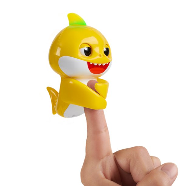 Pinkfong Baby Shark Fingerlings - Baby Shark - Pre-school Interactive Toy - By WowWee
