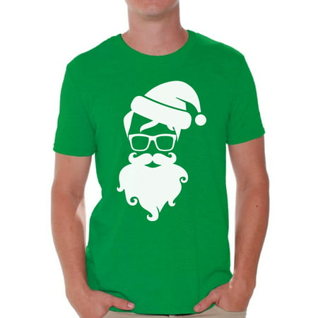 Awkward Styles Hipster Santa Christmas Shirt Santa Men's Holiday Tee for Christmas Hipster Santa Claus with Glasses Shirt Christmas T-shirt for Men Xmas Party Hipster Christmas Holiday Top ()