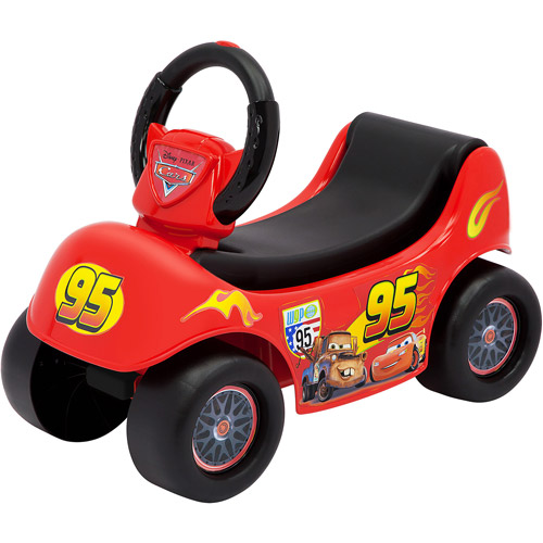 Disney Cars Lightning McQueen 2-in-1 Wagon/Ride-On