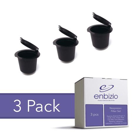 Reusable Nespresso Capsules, Single Serve Coffee Filter Pods - 3 Pack ()