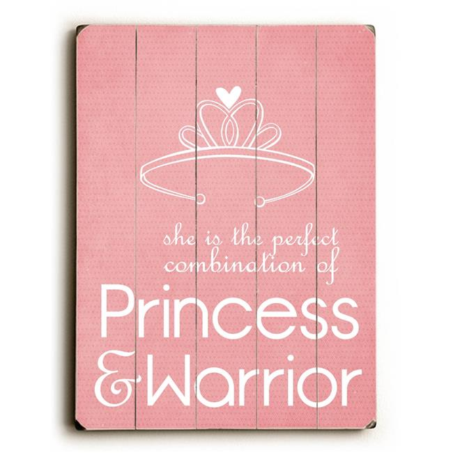 One Bella Casa 0004-3592-32 30 x 40 in. Princess & Warrior Planked Wood Wall Decor by Cheryl Overton - image 1 de 1
