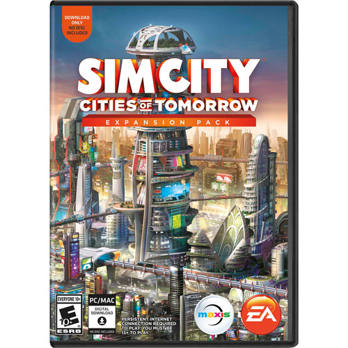 SimCity Cities of Tomorrow Expansion Pack (PC/Mac) (Digital Code)