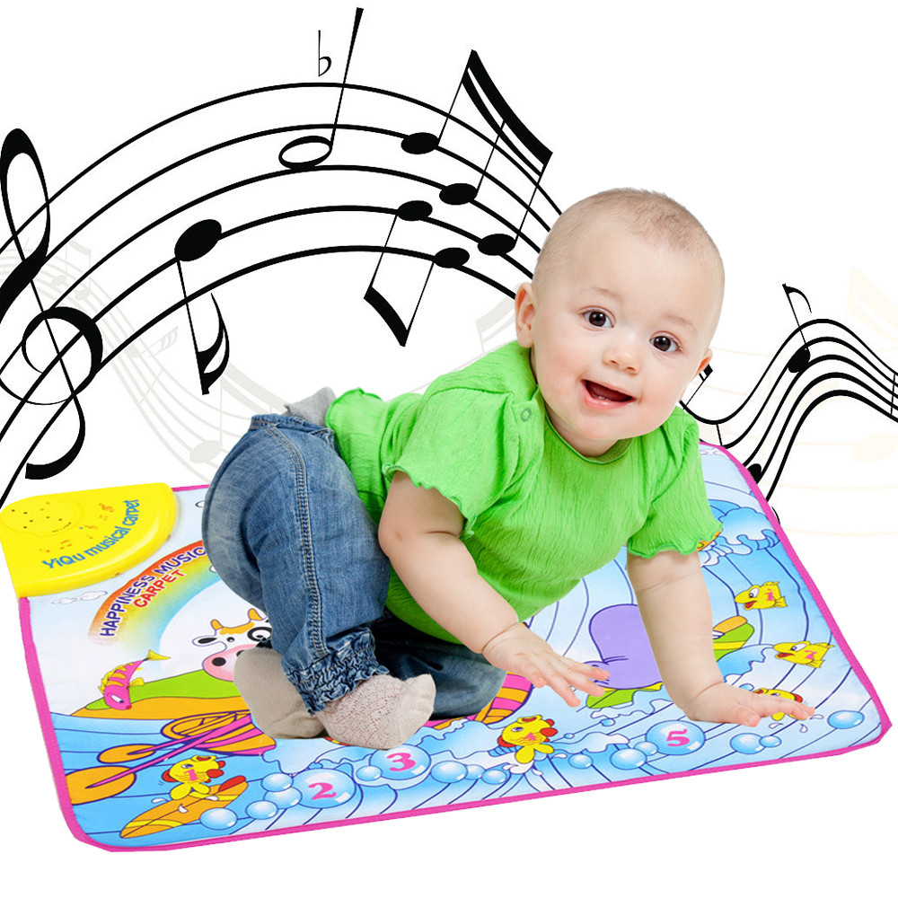 Mosunx New Play Keyboard Musical Music Singing Gym Carpet Mat Best Kids Baby Gift