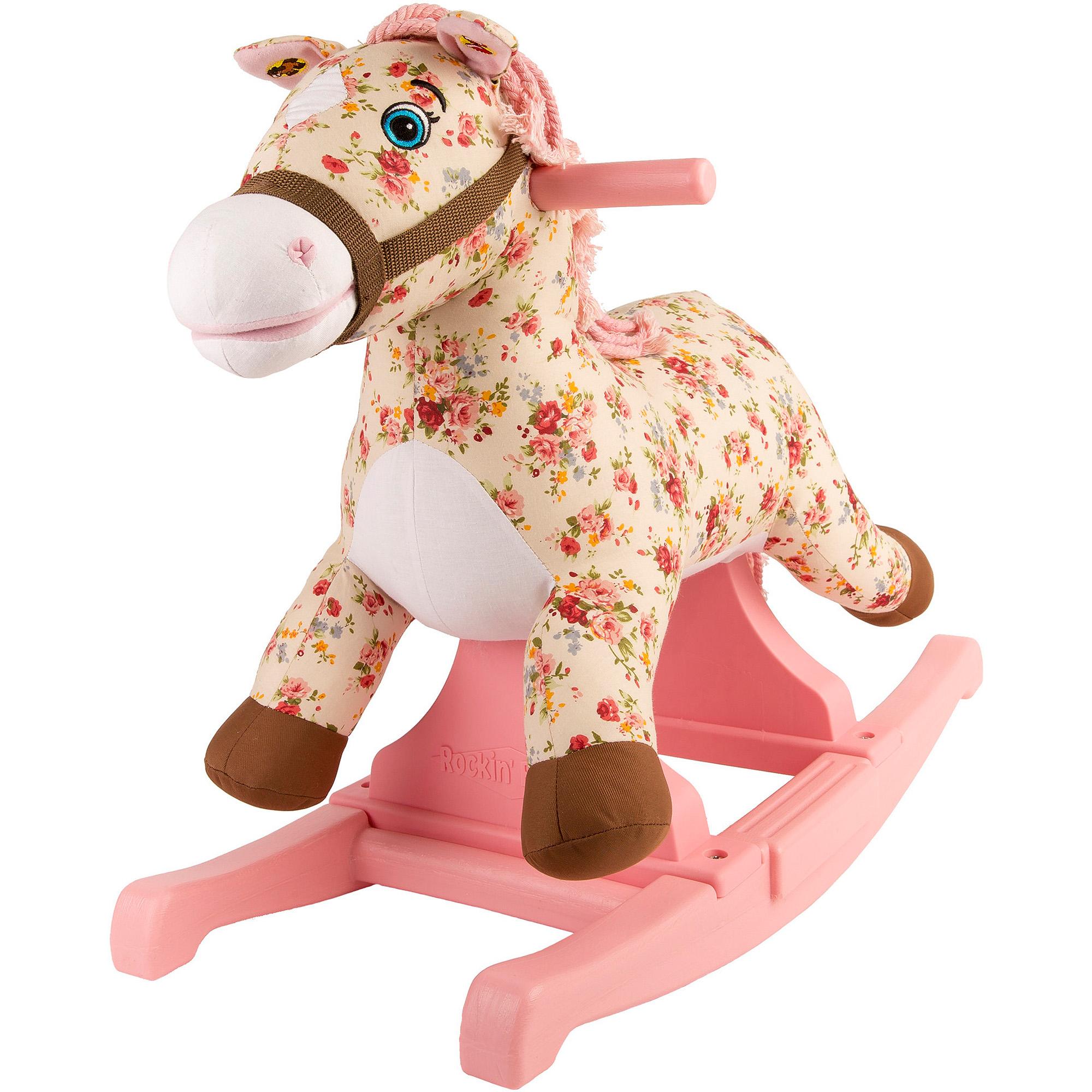 Rockin' Rider Flowers Vintage Rocking Pony