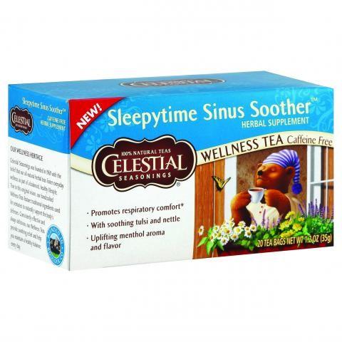 (6 Boxes) Celestial Seasonings Wellness Tea, Sleepytime Sinus Soother, 20 Count