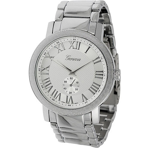 Image of Aktion Men's Chronograph Style Roman Numeral Link Watch