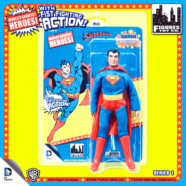 "DC Super Powers World's Greatest Heroes Series 1 Superman 8"" Action Figure"