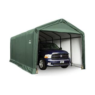 Click here to buy Shelter Tube Storage Shelter 12x25x11 Ft. in Green Cover.