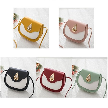 Fashion contrast saddle bag Casual Shoulder Messenger Bags Female Bags - image 4 de 7