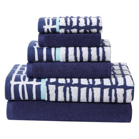 Multi-Color Cubish 6-Piece Printed and Solid Towel Set ()