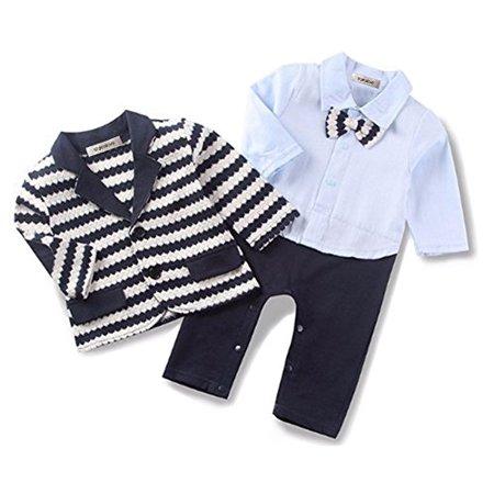 3b6add5f6da3 StylesILove - StylesILove Handsome Baby Boy Tuxedo Coverall Romper ...