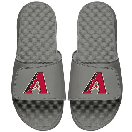 Arizona Diamondbacks ISlide Primary Logo Slide Sandals - Gray Birkenstock Arizona Birko Flor Sandal
