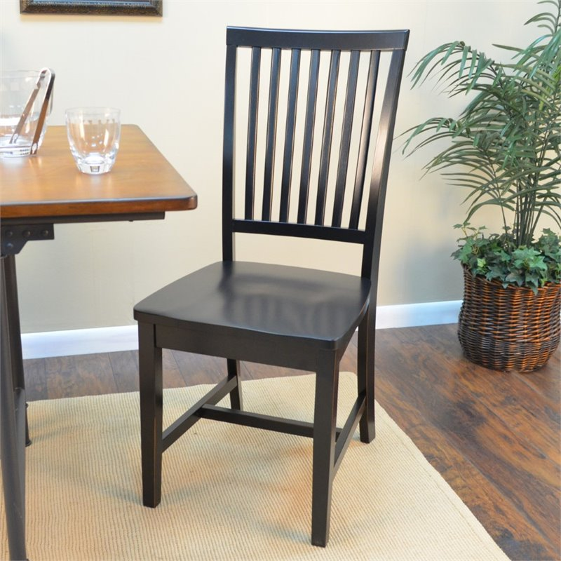 Carolina Classics Morgan Mission Chair in Antique Black