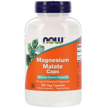 Now Foods Magnesium Malate Caps, 180 Veg Capsules