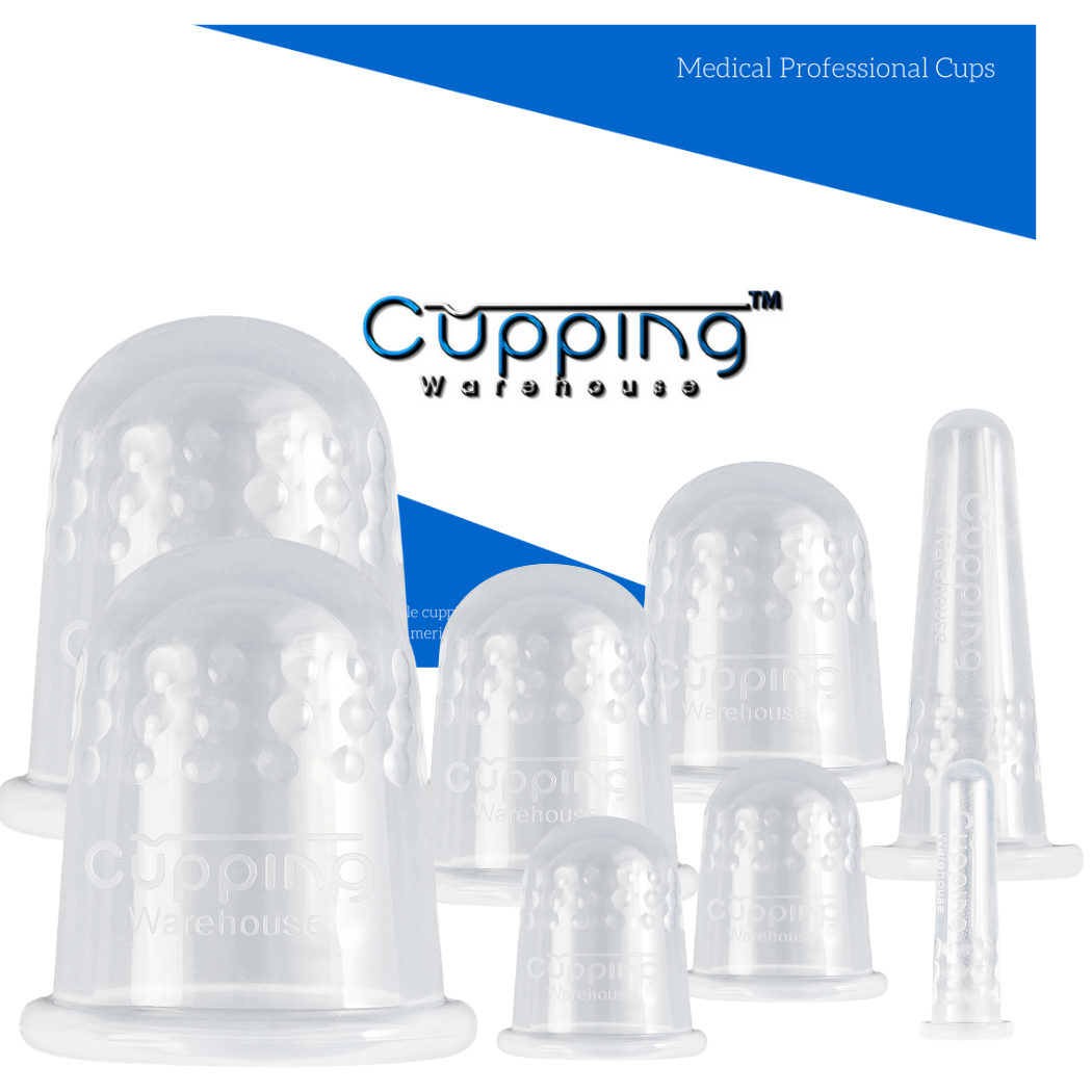 Classic 8 - Body and Face Professional and Home User Silicone Cupping Therapy Set by Cupping Warehouse TM:Online Video's,Cellulite, Trigger Point, Muscle Spasm, Lymph Drainage, Myofascial Release