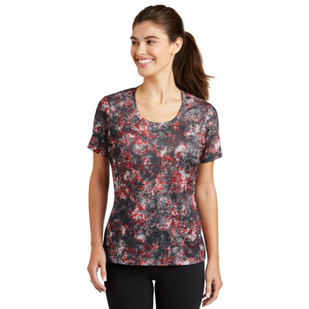 Sport-Tek Ladies Mineral Freeze Scoop Neck Tee