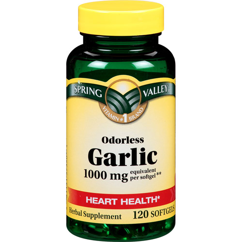 Spring Valley Odorless Garlic Softgels, 1000mg, 120 count