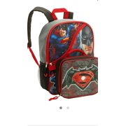 16 Batman v Superman backpack with detachable lunchbox