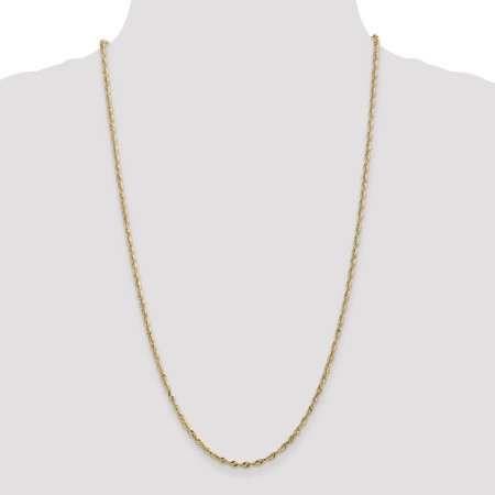 14K Yellow Gold 2.5mm Diamond Cut Extra-Light Rope Chain 20 Inch - image 3 de 5
