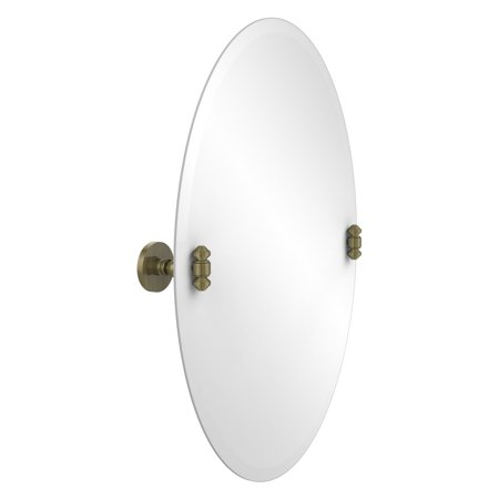 Allied Brass Southbeach Frameless Oval Tilt Beveled Wall Mirror