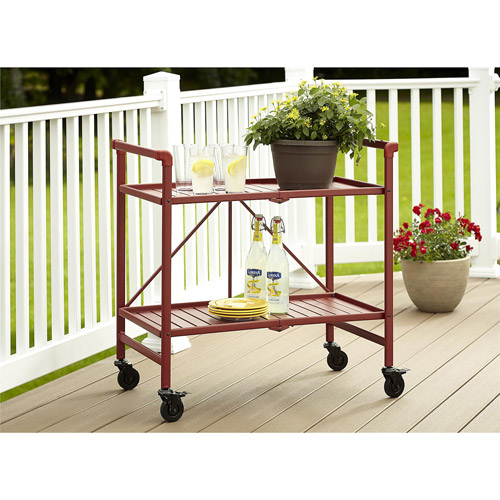 Cosco Metal Slat Folding Serving Cart by Cosco
