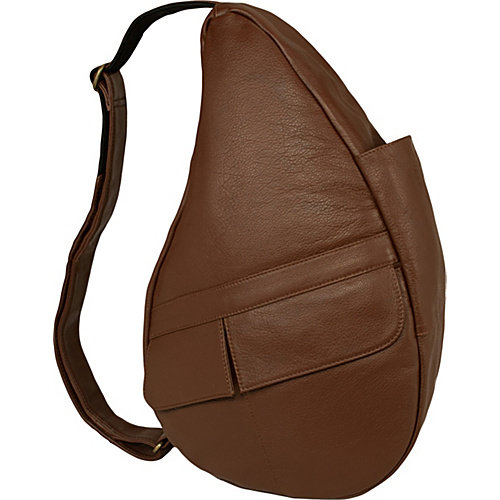 AmeriBag Classic Leather Healthy Back Bag  Medium Sling