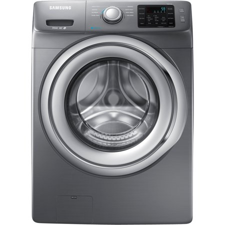 WF42H5200AP 27 Wide 4.2 cu. ft. Energy Star Rated Front Load Washer with 1200 RPM's 4 Motor Speeds Steam Washing Self-Clean Smart Care 9 Washing Cycles in Stainless Platinum