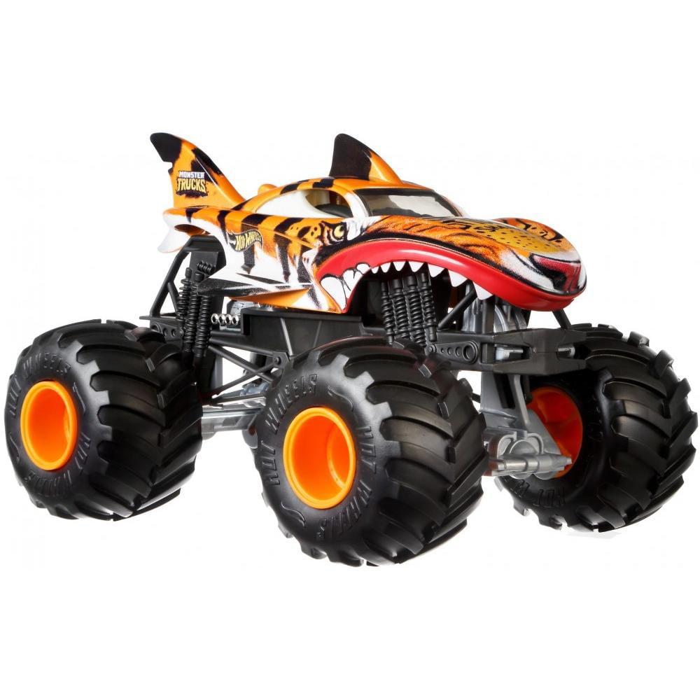 Hot Wheels Monster Trucks 1:24 Scale Tiger Shark Wreak ...