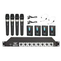Pylepro Pdwm8700 Wireless Microphone System - 215.50 Hz, 174.80 Hz, 200.60 Hz, 180.80 Hz, 212.60 Hz, 190.10 Hz, 214.20 Hz, 193 Hz System Frequency (pdwm8700)