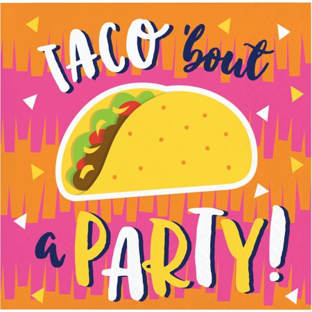 Fiesta Fun Taco Beverage Napkins, 48 Count Fun Beverage Napkins