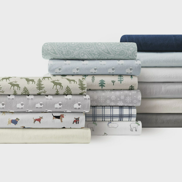 Brielle Home 100 Cotton Flannel Sheets Collection Walmart Com Walmart Com
