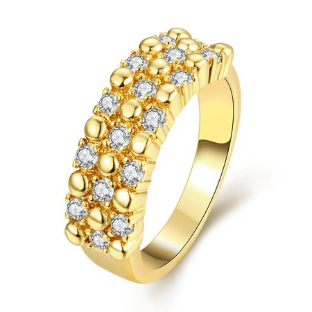 Aventura Jewellery Gold Plated Crystal Jewels Accent Ring Size