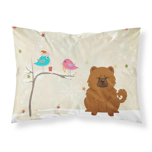 Carolines Treasures BB2614PILLOWCASE Christmas Presents Between Friends Chow Chow Red Fabric Standard Pillowcase, 20.5 x 0.25 x 30 in. - image 1 of 1