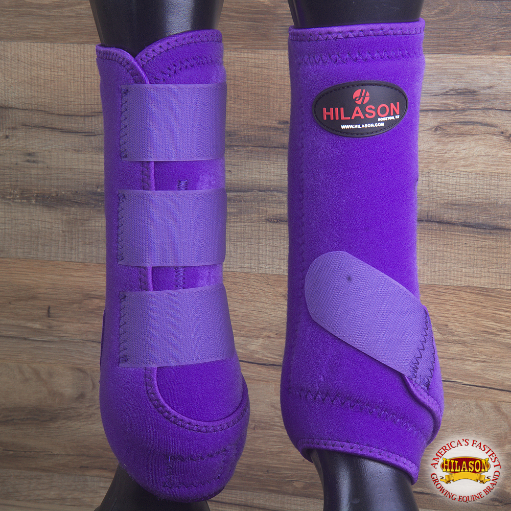 SMALL HILASON INFRA-TECH HORSE MEDICINE SPORTS BOOTS FRONT LEG PURPLE