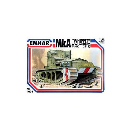 Emhar Models British Medium A Whippet Tank Vehicle Model Building Kit