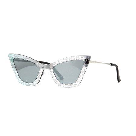 "Christian Roth Sunglasses Kardo CRS-00102 Chrome Black Frames Silver Lens 53MM"""