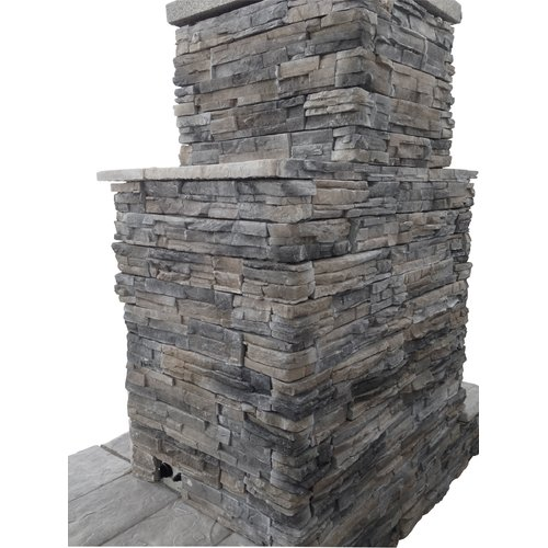 CalFlame Natural Stone Propane   Gas Outdoor Fireplace by CalFlame