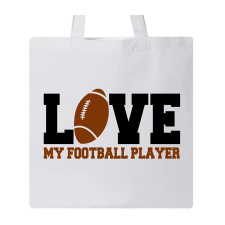 love my football player Tote Bag White One Size