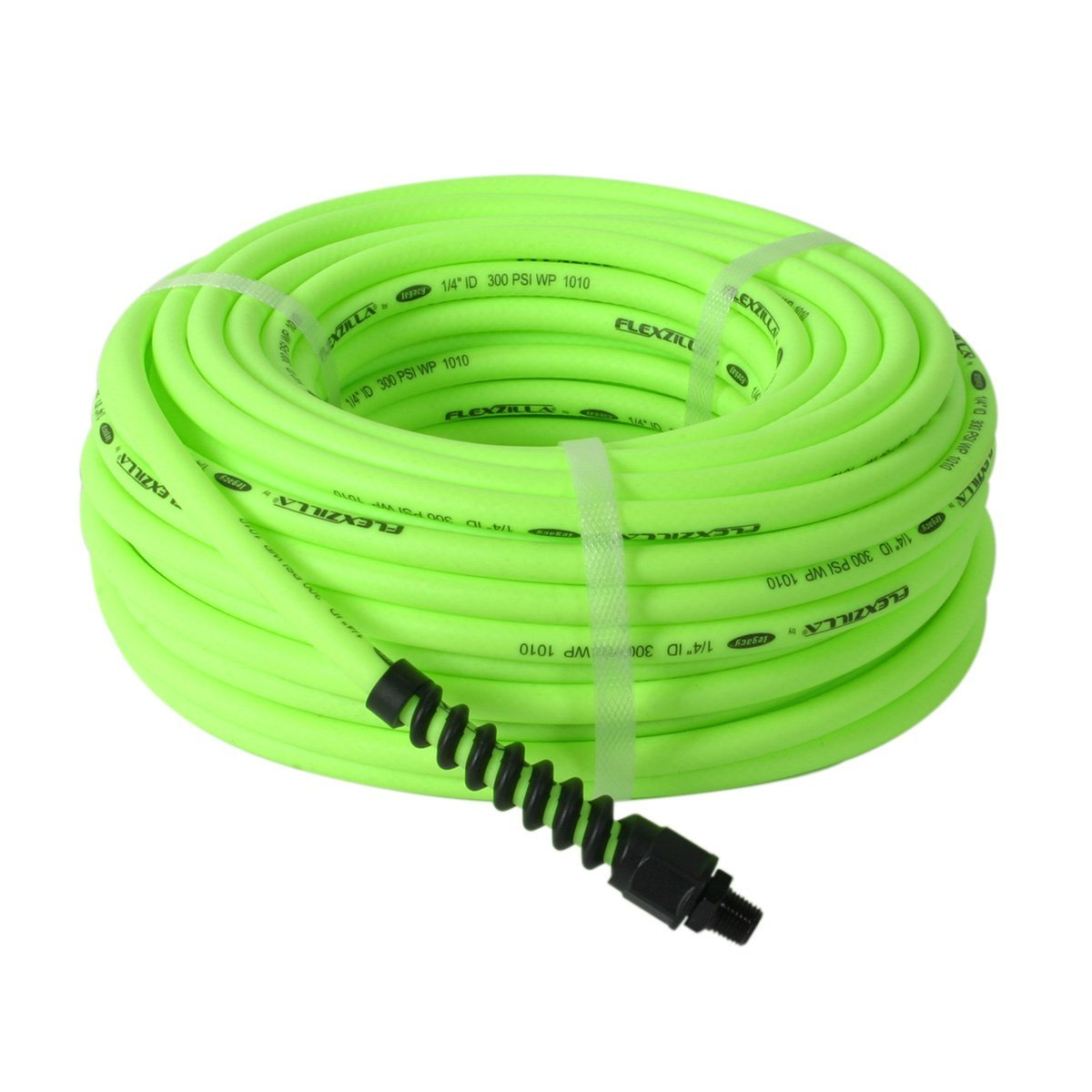 Pro Air Hose, 1/4 in. x 50 ft., Heavy Duty, Lightweight, Hybrid, ZillaGreen - HFZP1450YW2, Extreme all-weather flexibility By Flexzilla Ship from US