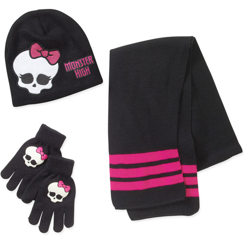 Monsters High Hat, Glove and Scarf Set