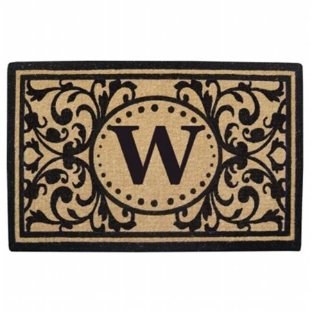 Nedia Home O2325W 30 x 48 in. Heavy Duty Heritage Coco Mat  Monogrammed W - image 1 of 1
