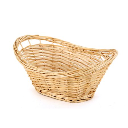 Homezone Oval Split Natural Willow Basket with Handles