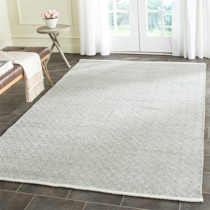 Safavieh Boston 8' Square Hand Woven Cotton Pile Rug in Gray - image 4 de 9