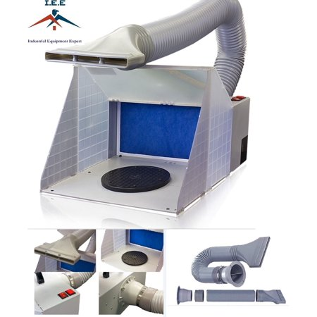 Portable Hobby Airbrush Paint Spray Booth Kit Exhaust Filter Extractor Set Model (Air Extractor)