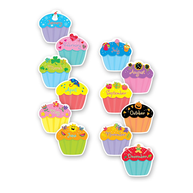 "CUPCAKES, 6"" DESIGNER CUT-OUTS"
